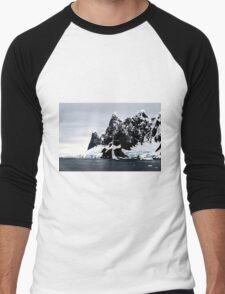 Snow Dust Men's Baseball ¾ T-Shirt