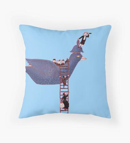 Bird Rescue Boat Throw Pillow