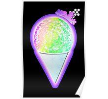 Snow Cone Rainbow Foodie Ice Cream Treat Poster