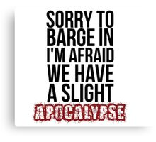 A Slight Apocalypse - Rupert Giles BTVS Canvas Print
