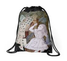 Alice In Wonderland/The Pack of Cards Drawstring Bag