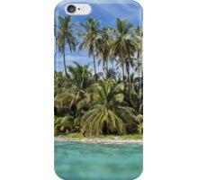 Tropical beach from water surface iPhone Case/Skin