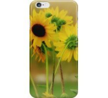 Summer Yellow.. Black Faces iPhone Case/Skin