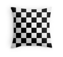 Checkered Flag Race Winner  Throw Pillow