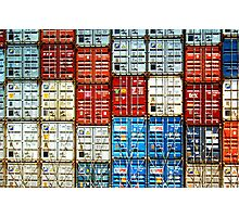 Wall Of Containers No.1 Photographic Print