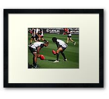 Warm Up Before the Big Game Framed Print