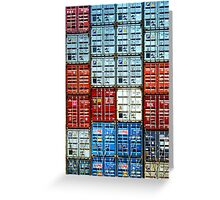 Wall Of Containers No.2 Greeting Card
