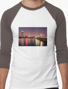 Harvard Bridge, Boston MA Men's Baseball ¾ T-Shirt
