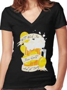Five Gold and a Party  Women's Fitted V-Neck T-Shirt