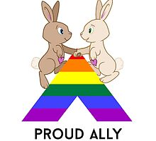 Skip & Pip (aka the Pride Bunnies) celebrate LGBT Allies by Catherine Dair