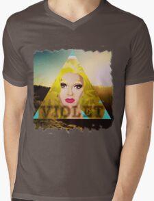 Violet Sunrise Mens V-Neck T-Shirt