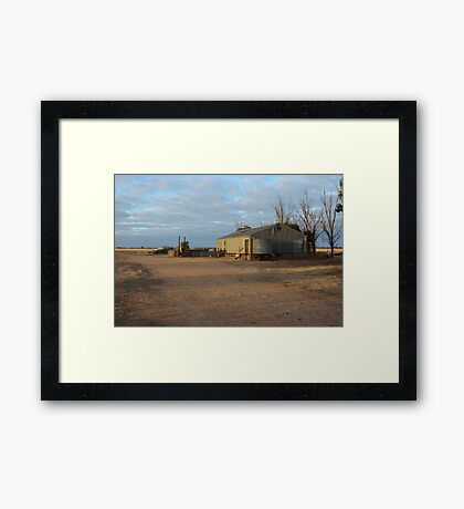 Shearing Shed in the Mallee Framed Print