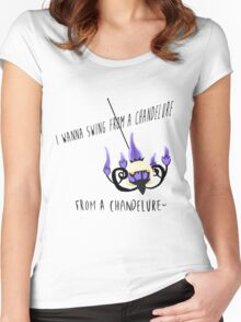 Pokemon Pun  Women's Fitted Scoop T-Shirt
