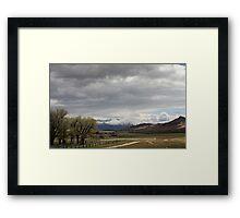 Storm over Garr Ranch Framed Print