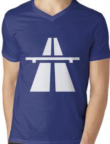 Autobahn Mens V-Neck T-Shirt