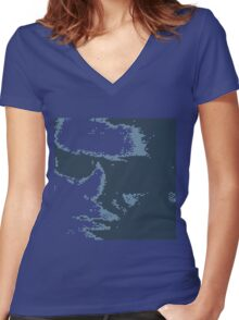 Lou Reed 1966 Light Blue Women's Fitted V-Neck T-Shirt