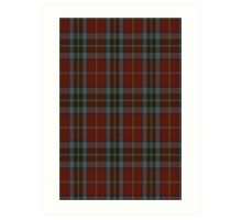 00008 MacTavish Red, Thompson Red Tartan Art Print
