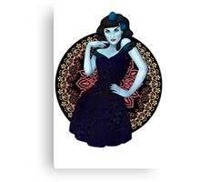 Dead Clara - Zombie Pinup Canvas Print
