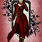 Red Victorian Steampunk Explorer by CatAstrophe