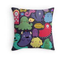Colorful Creatures Throw Pillow