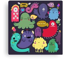 Colorful Creatures Canvas Print