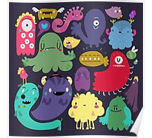 Colorful Creatures Poster
