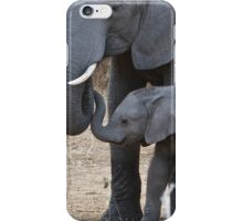 Love & Trust - Mother & Baby African Elephants iPhone Case/Skin