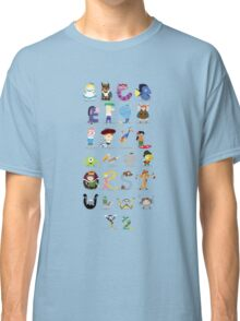 Animated characters abc Classic T-Shirt