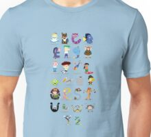 Animated characters abc Unisex T-Shirt