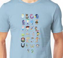Animated characters abc Unisex T-Shirt