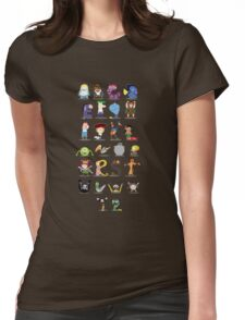 Animated characters abc Womens Fitted T-Shirt