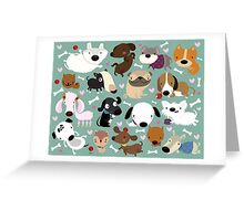 Dog pattern Greeting Card