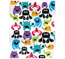 Monster Pattern Poster
