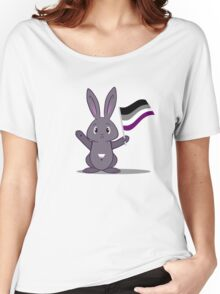 Lane - the Asexual Pride Bunny Women's Relaxed Fit T-Shirt