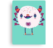 Puffy monster Canvas Print