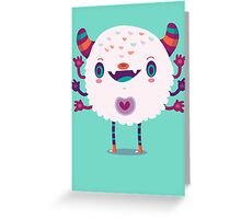 Puffy monster Greeting Card