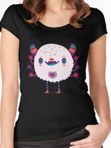 Puffy monster Women's Fitted Scoop T-Shirt
