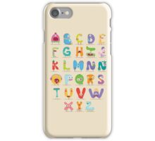 Monster abc iPhone Case/Skin