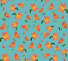 Orange Flowers * Pattern by AnaCBStudio