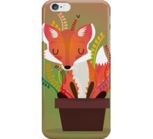 The fox in the pot iPhone Case/Skin