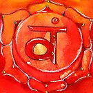 Sacral Chakra: Meditative Painting by AmandaGWright