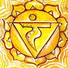 Solar Plexus Chakra: Meditative Painting by AmandaGWright