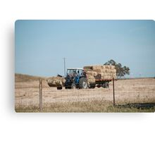 Hay Truck Canvas Print
