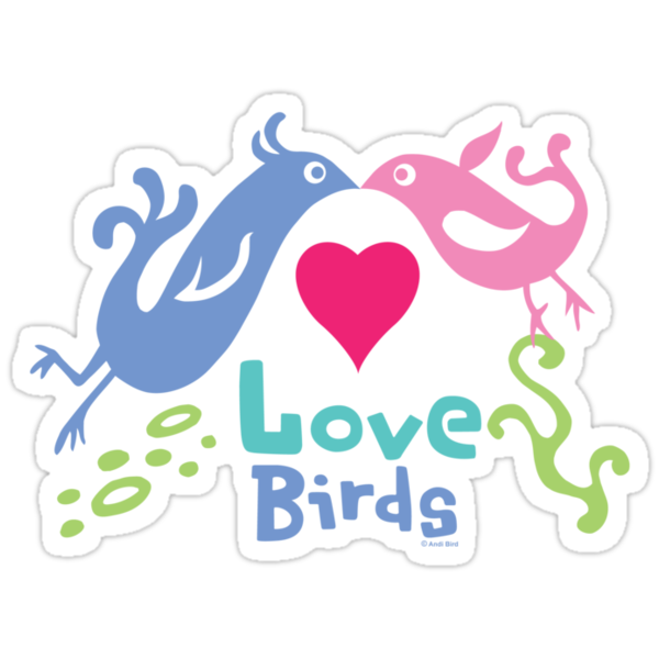 Love Birds - light colors by Andi Bird