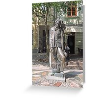 Statue, Hans Christian Andersen and Jiminy Cricket. Greeting Card
