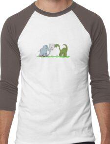 Gladys Meets Dino Men's Baseball ¾ T-Shirt