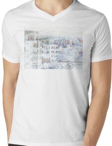 Winter in the 'burbs' Mens V-Neck T-Shirt