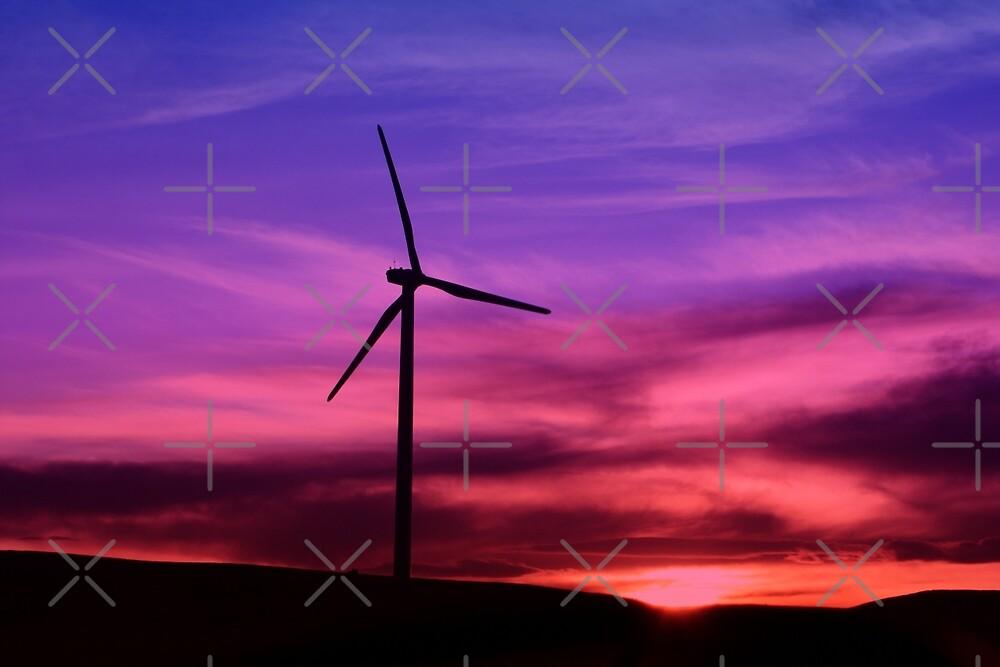 Sunset Windmill by Alyce Taylor