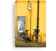 Bike In campo De Fiori Canvas Print