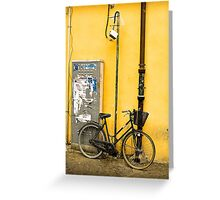 Bike In campo De Fiori Greeting Card